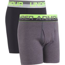 Under Armour Big Boys 2-pk. Solid Boxerjock Briefs