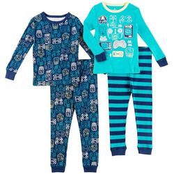 Fresh Kids Toddler Boys 4-pc. Gamer Pajama Set