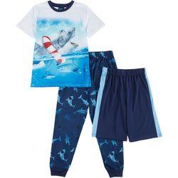 Jelli Fish Inc. Big Boys Shark Pajama Set