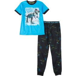 Jelli Fish Inc. Little Boys 2-pc. Roar Some Pajama Set