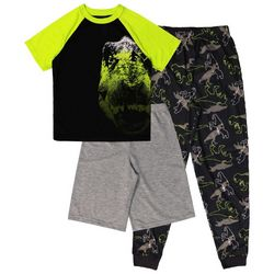 Jelli Fish Inc. Big Boys 3-pc. Dinosaur Pajama Set