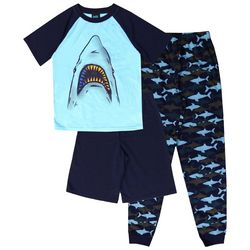 Jelli Fish Inc. Big Boys 3-pc. Shark Pajama Set