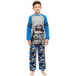 Jelli Fish Inc. Little Boys Space Sloth Pajama Set