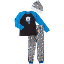 Jelli Fish Inc. Little Boys 3-pc. Polar Bear Pajama Set