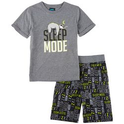 Jelli Fish Inc. Big Boys Sloth Sleep Mode Pajama Set