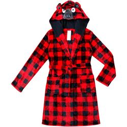 Jelli Fish Inc. Big Boys Plaid Bear Robe