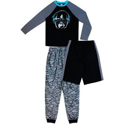 Jelli Fish Inc. Big Boys 3-pc. Gorilla Camo Pajama Set