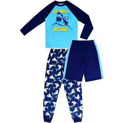 Jelli Fish Inc. Big Boys 3-pc. Do Not Disturb Pajama Set