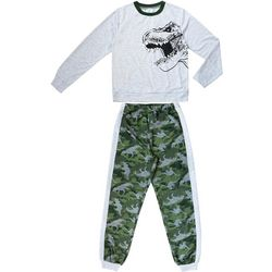 Jelli Fish Inc. Little Boys 2-pc. T-Rex Dino Pajama Set