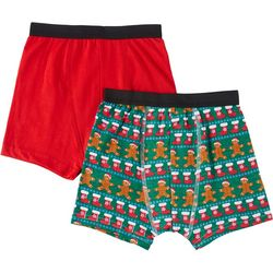 Championship Gold Big Boys 2-pc. Gingerbread Boxer Briefs