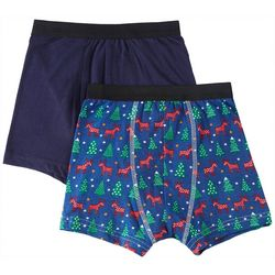 Championship Gold Big Boys 2-pc. Reindeer Boxer Briefs