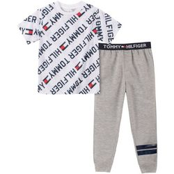 Tommy Hilfiger Big Boys 2-pc Classic Logo Pajama Pants Set