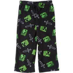Minecraft Little Boys Fleece Minecraft Creeper Pajama Pants