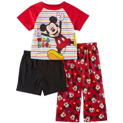 Disney Mickey Mouse Toddler Boys 3-pc. Striped Sleep Set