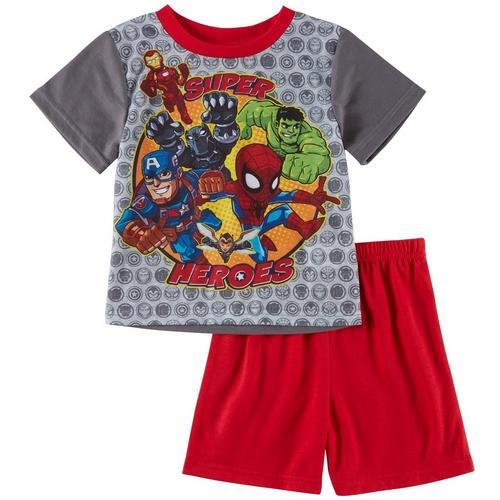 0b4571eaab7 Marvel Avengers Toddler Boys Super Heroes Sleepwear Set