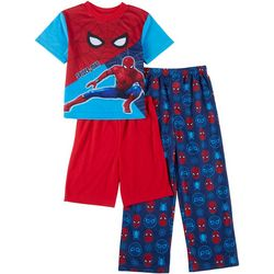 Spider-Man Little Boys 3-pc. Short Sleeve Graphic Pajama Set