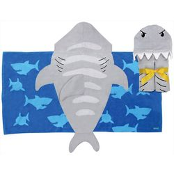 Stephen Joseph Boys Shark Hooded Towel