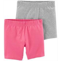 Carters Little Girls 2-pk. Solid Biker Shorts