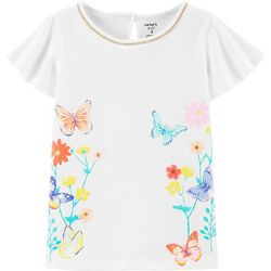 Carters Little Girls Floral Butterfly Tee