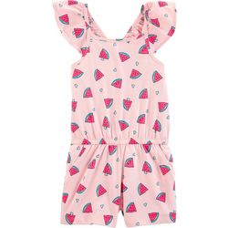 Carters Little Girls Watermelon Ruffle Romper
