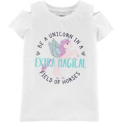 Carters Little Girls Extra Magical Cold Shoulder T-Shirt