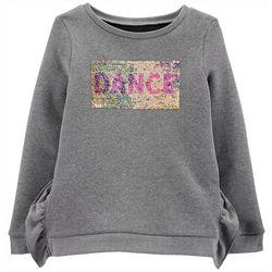 Carters Little Girls Dance Flip Sequin Long Sleeve