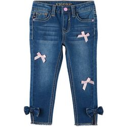 Vigoss Little Girls Ribbon Denim Ankle Jeans