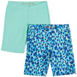 Vigoss Little Girls 2-pk. Animal & Solid Bermuda S
