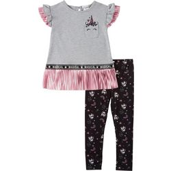 Forever Me Little Girls 2-pc. Unicorn Foil Leggings Set