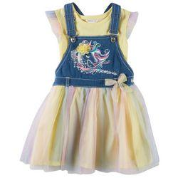 Forever Me Little Girls 2-pc. Unicorn Overall Tutu Dress Set