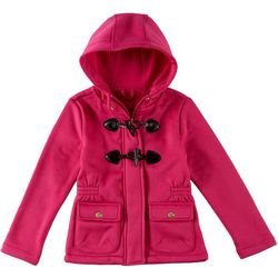 Pink Platinum Little Girls Solid Toggle Hoodie