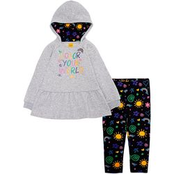 Crayola Little Girls 2-pc Peplum Hoodie Set