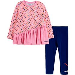 Crayola Little Girls 2-pc. Asymmetrical Tunic Set