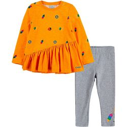 Crayola Little Girls 2-pc. Printed Asymmetrical Tunic Set