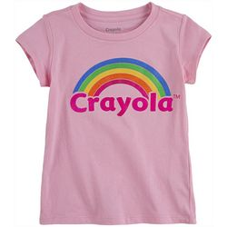 Crayola Little Girls Rainbow Graphic T-Shirt