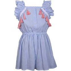 Bonnie Jean Little Girls Stripe Tassel Romper