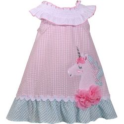 Bonnie Jean Little Girls Unicorn Seersucker Dress