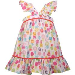 Bonnie Jean Little Girls Pineapple Ruffled Sundress
