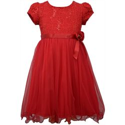 Bonnie Jean Little Girls Lace Tulle Skirt Dress