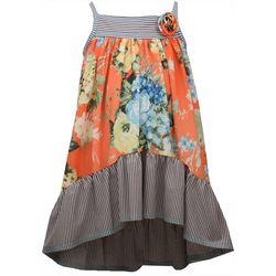 Bonnie Jean Little Girls Floral High Low Hem Dress