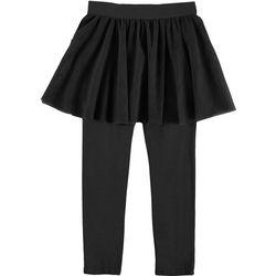 Flapdoodles Little Girls Solid Skirt Leggings
