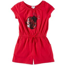 Flapdoodles Little Girls Sequin Ladybug Romper