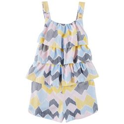 Flapdoodles Little Girls Ruffle Stripe Romper