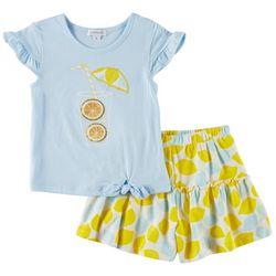 Flapdoodles Little Girls 2-pc. Lemonade Short Set