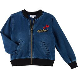 Flapdoodles Little Girls Denim Cat Jacket