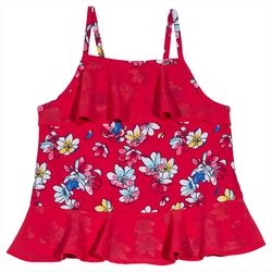 Nautica Little Girls Floral Chiffon Tank Top