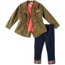 Little Lass Little Girls 3-pc. Cargo Jacket &
