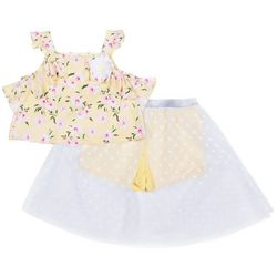 Little Lass Little Girls 2-pc. Floral Walkthrough Short Set
