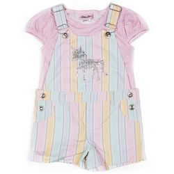 Little Lass Little Girls Sequin Unicorn Shortalls Set