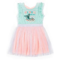 Little Lass Little Girls Sequin Mermaid Tulle Dress